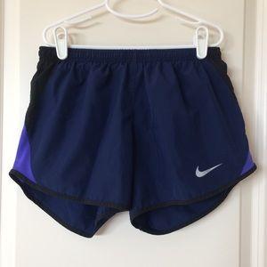 Navy Nike women's running shorts